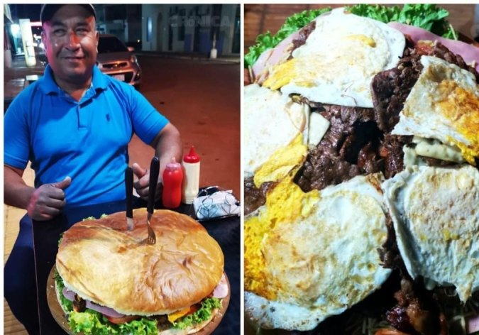 Гигантский парагвайский гамбургер
